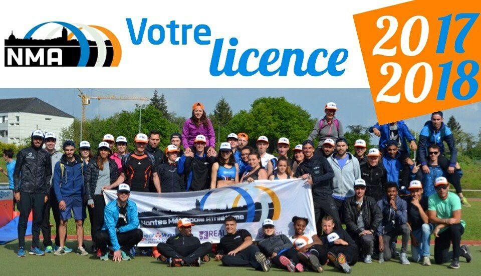 Nantes Métropole Athlétisme : Licence 2017-2018