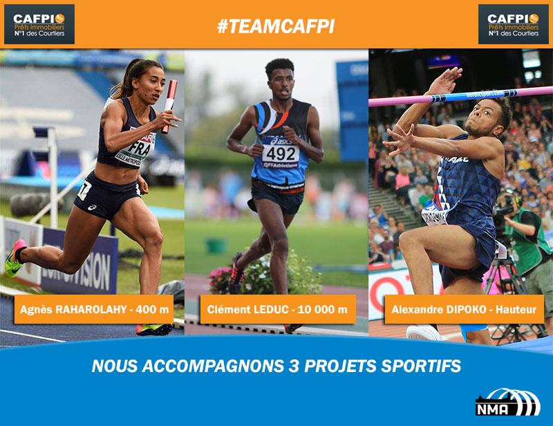 3 athlètes du NMA forment la Team CAFPI